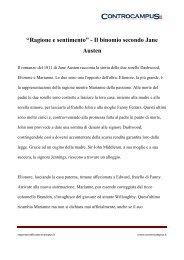 Ragione e Sentimento di Jane Austen - Appunti - Controcampus