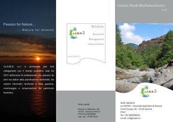 Brochure - Centro Studi BIoNaturalistici srl-Home
