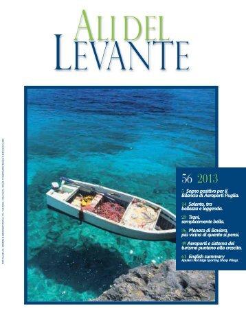 Ali del Levante N.56 Maggio 2013 - Aeroporti di Puglia