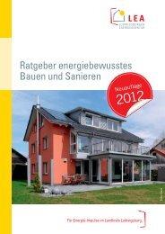 Ratgeber energiebewusstes Bauen und Sanieren - Klimaschutz
