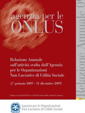Relazione Annuale 2009 - Ministero del lavoro, salute e politiche ...