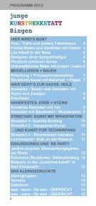 junge KunstwerKstatt Bingen - VHS Bingen - Seite 2