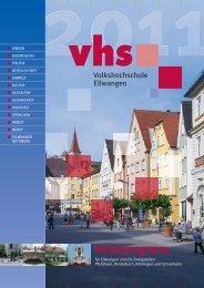 Herbstprogramm - VHS Ellwangen