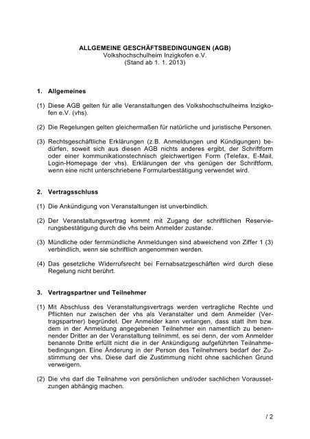 Vorlage Brief Orginal Vhs Heim Inzigkofen