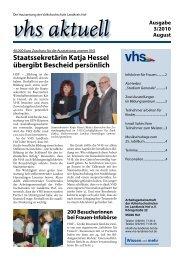 Ausgabe III/2010 - Download - VHS Landkreis Hof