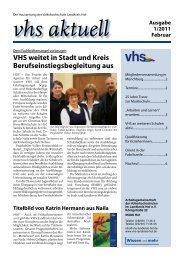 Ausgabe I/2011 - Download - VHS Landkreis Hof