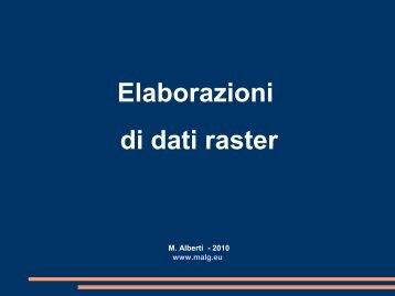 Elaborazioni di dati raster - malg.eu