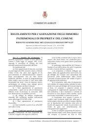 ALIENAZIONE DEI BENI IMMOBILI - Comune di Albiate