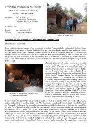 India Report (Jan 2013) - Free Grace Evangelistic Association