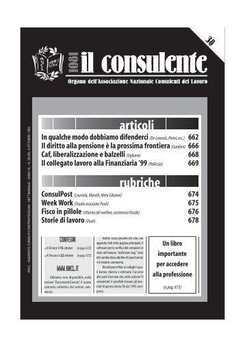 N. 38 del 9 ottobre 1999 - Ancl