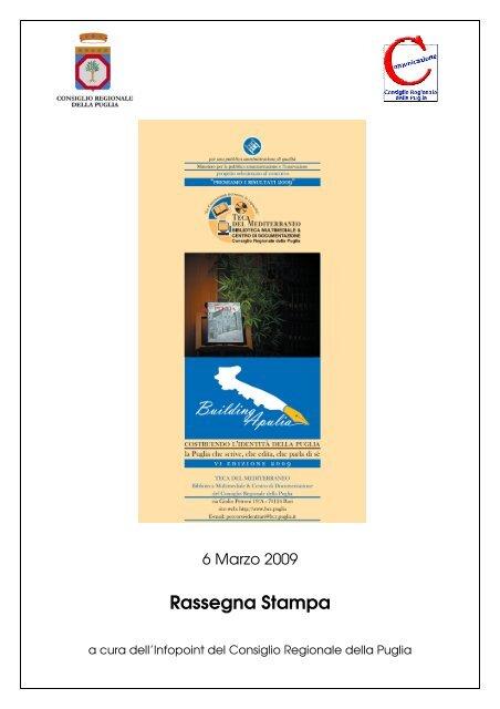 Rassegna Stampa - Biblioteca del Consiglio Regionale della Puglia