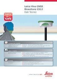 Leica Viva GNSS Ricevitore GS12 Dati Tecnici - Leica Geosystems