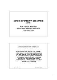 sistemi informativi geografici (gis) - Dipartimento di Elettronica ed ...