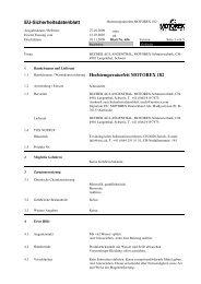EU-Sicherheitsdatenblatt Hochtemperaturfett MOTOREX 182