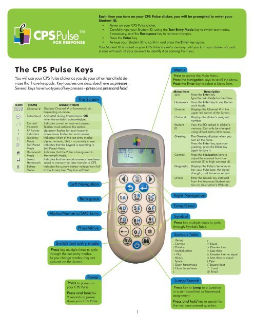 Buy 1 or all 24 einstruction CPS Pulse Response Clicker