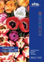 Programmheft Download - VHS Schongau