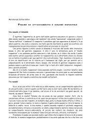 Figure di attaccamento e dolore infantile - Diocesi di Parma