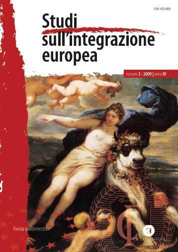 Numero 3 - Studisullintegrazioneeuropea.Eu