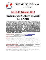 15-16-17 Giugno 2012 Trekking del Sentiero ... - CAI Colleferro