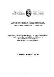CAPITOLATO TECNICO - Regione Autonoma Valle d'Aosta