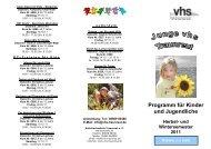Junge vhs 2011-2 - Volkshochschule Traunreut