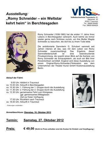 Romy Schneider - Volkshochschule Traunreut