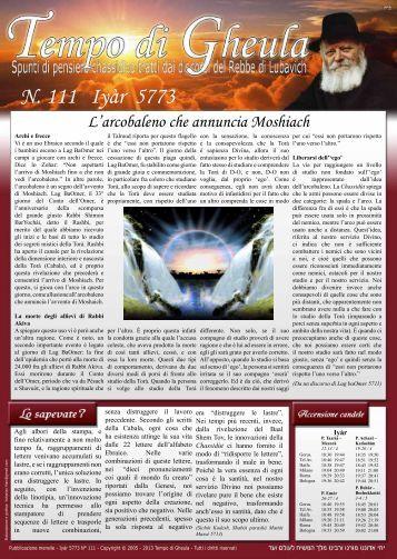 N. 111 Iyàr 5773 - Vivere La Gheula