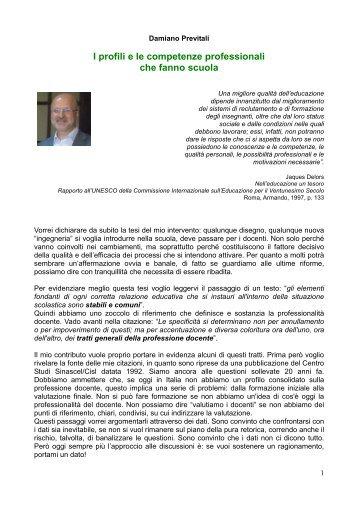 relazione di Damiano Previtali - CISL Scuola