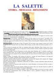 la salette: storia - messaggi - riflessioni - Apostolidegliultimitempi.it