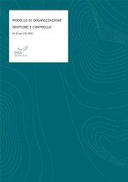 Modello di Organizzazione, Gestione e Controllo - SMA - Gruppo Intini
