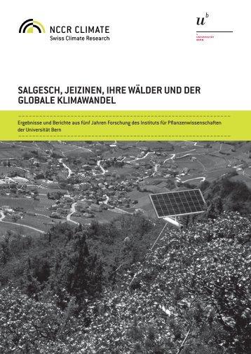 Salgesch, Jeizinen, ihre Wälder und der globale Klimawandel