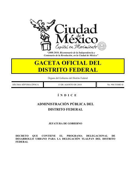Gaceta Oficial Del Distrito Federal Orden Jurídico Nacional