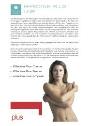 EFFECTIVE PLUS LINIE - vhv beauty group