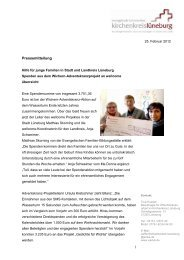 Lesen Sie mehr... - Kirche & Diakonie Lüneburg