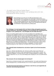 Interview mit Antje Stoffregen - Kirche & Diakonie Lüneburg