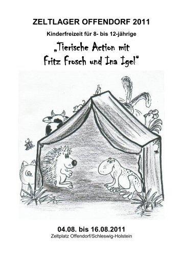 """""""Tierische Action mit Fritz Frosch und Ina Igel"""""""