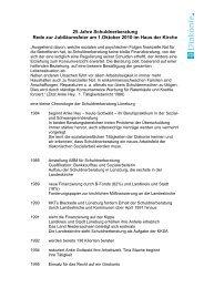 25 Jahre Schuldnerberatung Rede zur Jubiläumsfeier am 1.Oktober ...