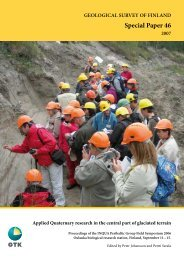 Geological Survey of Finland, Special Paper 46 - arkisto.gsf.fi