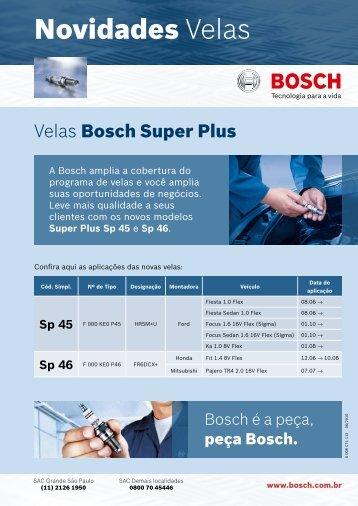 Novidades Velas - Bosch