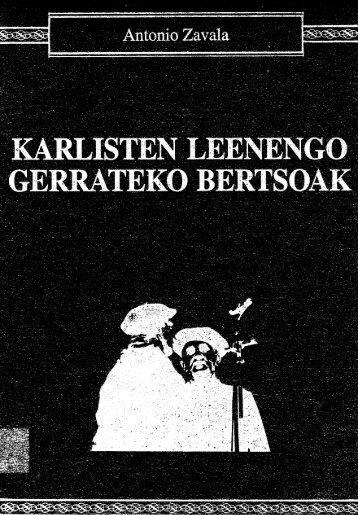 Karlisten leenengo gerrateko bertsoak - Euskaltzaindia