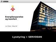 Servodan - Energibesparelser og komfort - Industrien Sydfyn