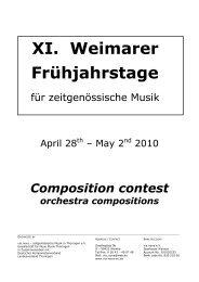 Orchester Englisch - via nova - zeitgenössische Musik in Thüringen eV