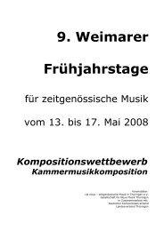 9. Weimarer Frühjahrstage - via nova - zeitgenössische Musik in ...