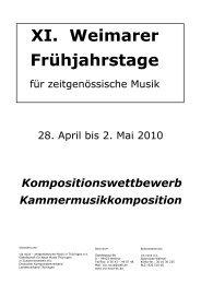 Ausschreibung Kammermusik - via nova - zeitgenössische Musik in ...