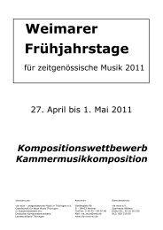 Weimarer Frühjahrstage - via nova - zeitgenössische Musik in ...