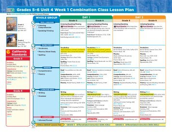 Grades 5–6 Unit 4 Week 1 Combination Class Lesson ... - Treasures