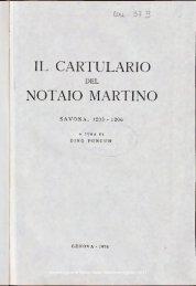 IL CARTULARIO NOTAIO MARTINO - Società Ligure di Storia Patria