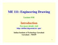 ME 111: Engineering Drawing - Indian Institute of Technology ...