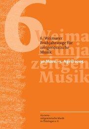 Programmheft - via nova - zeitgenössische Musik in Thüringen eV