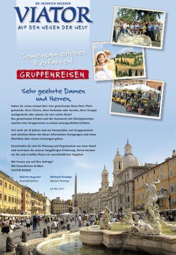 Unsere Broschüre für individuelle Gruppenreisen - Viator